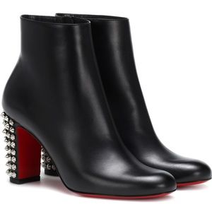 Christian louboutin black studded 'suzi' booties